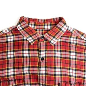 Polo Jeans Ralph Lauren Red Striped Plaid Flannel